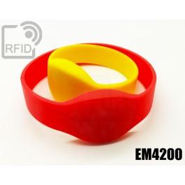 Braccialetti RFID silicone ovale EM4200