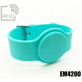 Braccialetti RFID silicone fibbia EM4200
