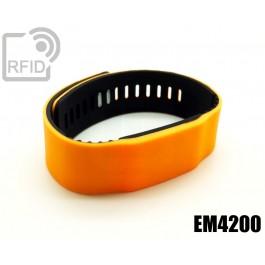 Braccialetti RFID silicone bicolore EM4200