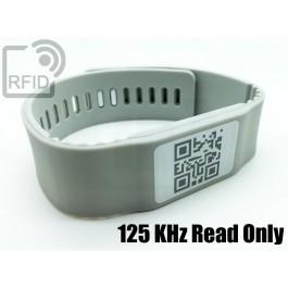Braccialetti RFID silicone banda Read Only 125 Khz