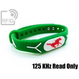 Braccialetti RFID silicone rilievo Read Only 125 Khz
