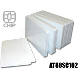 Tessere chip card bianche AT88SC102 1