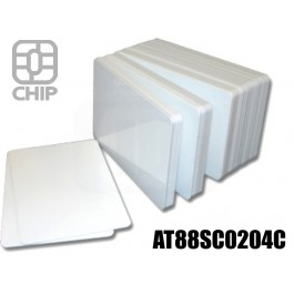 Tessere chip card bianche AT88SC0204C 1