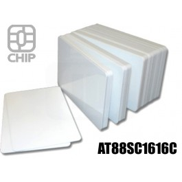 Tessere chip card bianche AT88SC1616C 1