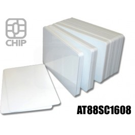 Tessere chip card bianche AT88SC1608 1
