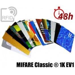Tessere card stampa 48H RFID MIFARE Classic ® 1K EV1