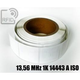 Etichette RFID 44 x 44 mm 13,56 MHz 1K 14443 A ISO