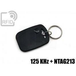Portachiavi tag RFID rettangolare NFC 125 KHz + NTAG213