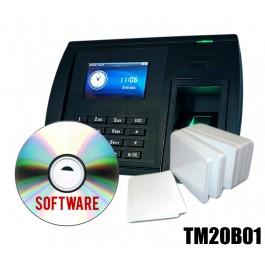 KIT Timbracartellino impronta +Software +Badge RFID MIFARE