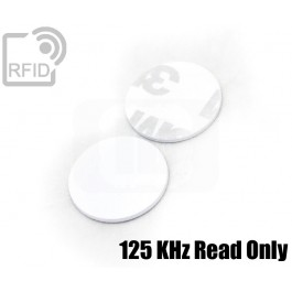 Dischi adesivo RFID PVC bianchi 125 KHz Read Only