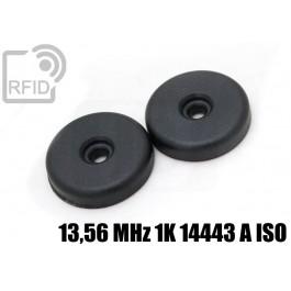 Dischi RFID 32mm adesivi 13,56 MHz 1K 14443 A ISO