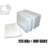 Tessere card doppia tecnologia 125 KHz + H3 UHF