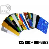 Tessere card stampate doppio chip 125 KHz + H3 UHF