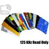 Tessere card personalizzate RFID Read Only 125 Khz