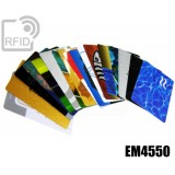 Tessere card personalizzate RFID EM4550