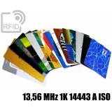 Tessere card personalizzate RFID 13,56 MHz 1K 14443 A ISO