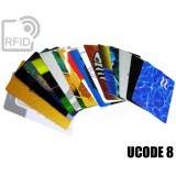 Tessere card personalizzate RFID UCODE 8
