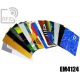 Tessere card personalizzate RFID EM4124