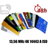 Tessere card stampa 48H RFID 13,56 MHz 4K 14443 A ISO