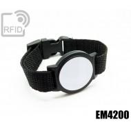 Braccialetti RFID ABS tondo EM4200