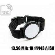 Braccialetti RFID ABS tondo 13,56 MHz 1K 14443 A ISO