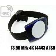Braccialetti RFID ABS rettangolare 13,56 MHz 4K 14443 A ISO