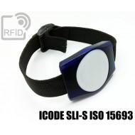 Braccialetti RFID ABS rettangolare ICODE SLI-S ISO 15693