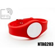 Braccialetti RFID regolabile NFC NTAG203