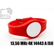 Braccialetti RFID regolabile 13,56 MHz 4K 14443 A ISO