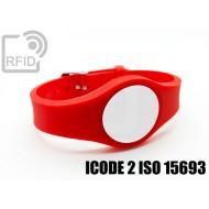 Braccialetti RFID regolabile ICODE 2 ISO 15693