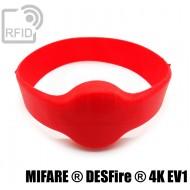 Bracciali RFID silicone tondo NFC MIFARE ® DESFire ® 4K EV1