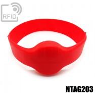 Bracciali RFID silicone tondo NFC NTAG203