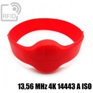 Bracciali RFID silicone tondo 13,56 MHz 4K 14443 A ISO