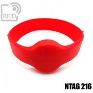 Bracciali RFID silicone tondo NFC NTAG216
