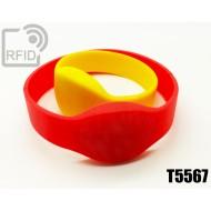 Braccialetti RFID silicone ovale T5567