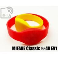 Braccialetti RFID silicone ovale MIFARE Classic ® 4K EV1