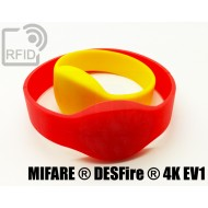 Braccialetti RFID silicone ovale NFC MIFARE ® DESFire ® 4K E