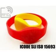 Braccialetti RFID silicone ovale ICODE SLI ISO 15693