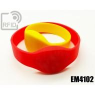Braccialetti RFID silicone ovale EM4102