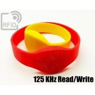 Braccialetti RFID silicone ovale Read/Write 125 Khz