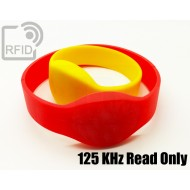 Braccialetti RFID silicone ovale 125 KHz Read Only