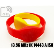 Braccialetti RFID silicone ovale 13,56 MHz 1K 14443 A ISO