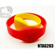 Braccialetti RFID silicone ovale NFC NTAG203