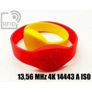 Braccialetti RFID silicone ovale 13,56 MHz 4K 14443 A ISO