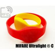 Braccialetti RFID silicone ovale NFC MIFARE Ultralight ® C