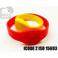 Braccialetti RFID silicone ovale ICODE 2 ISO 15693