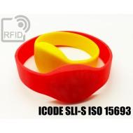 Braccialetti RFID silicone ovale ICODE SLI-S ISO 15693