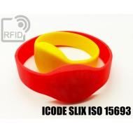 Braccialetti RFID silicone ovale ICODE SLIX ISO 15693