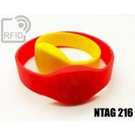Braccialetti RFID silicone ovale NFC NTAG216