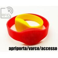 Braccialetti RFID silicone ovale apriporta/varco/accesso